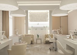 Дизайн оформления интерьера современного салона красоты