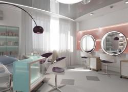 Интерьер парикмахерской: проект 3D
