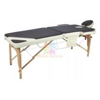Массажный стол складной деревянный JF-AY01 2-х секционный М/К (крем/кор)
