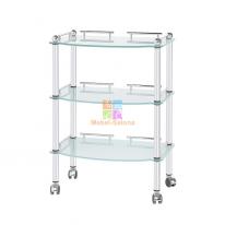 Стол-тележка МЦ-012 стеклянный