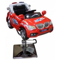 Детское парикмахерское кресло машинка BMW-Полиция красная