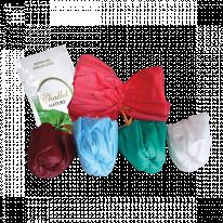 Мочалка одноразовая + гель для душа в индивидуальной упаковке