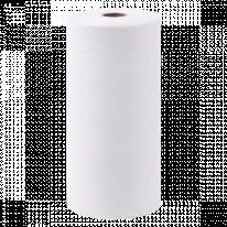 Полотенце из хлопка с тиснением Эконом Белый 45х90 100 шт/рулон