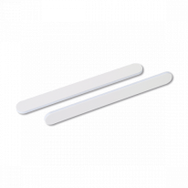 Пилка для ногтей на деревянной основе белая абразив 180/240