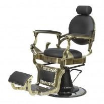 """Кресло мужское барбер """"Ричард"""" полированный каркас медного цвета"""
