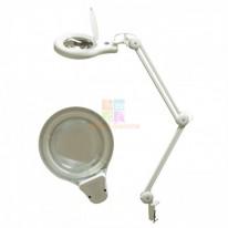 Лампа-лупа кольцевая на струбцине
