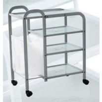 Столик массажный (металл/стекло) - н04