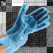 Перчатки ТПЭ голубой размер L 200 шт/уп