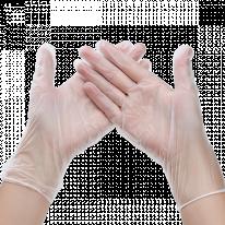 Перчатки винил Эконом неопудренные 100 шт/уп 1-Touch