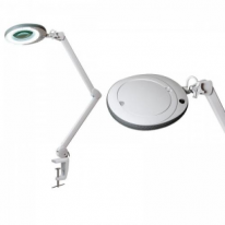 Лампа-лупа LED (48 светодиодов 3 диоптрии) кронштейн\ серый ободок