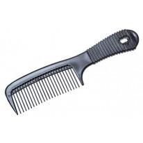 Расчёска 21 см черная с прорезиненной ручкой