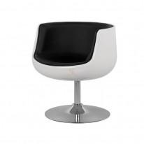 Кресло Детройт (черный/белый)