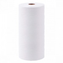 Полотенце из хлопка с тиснением Эконом Белый 45х90 50 шт/рулон