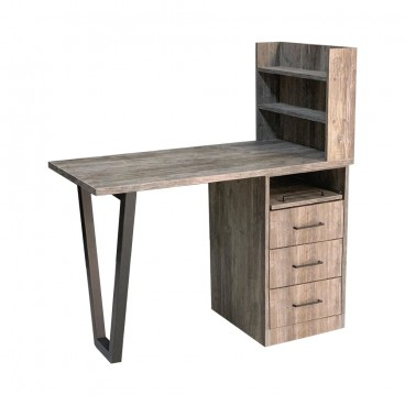 """Маникюрный стол """"Лофт II"""" с полкой"""