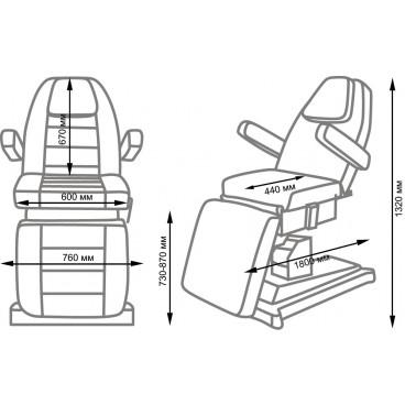 Косметологическое кресло Альфа-10 электропривод, 2 мотора